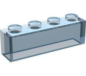LEGO Transparent Light Blue Brick 1 x 4 without Stud Bars (3066)