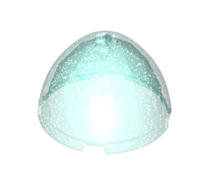 LEGO Transparent Light Blue Glitter Container Top 4 x 4 x 2 1/3 (24132)