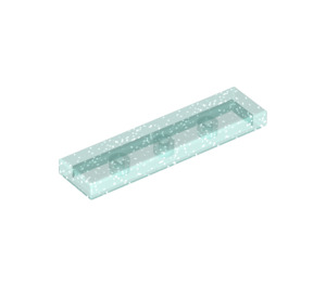 LEGO Transparent Light Blue Glitter Tile 1 x 4 (35371)