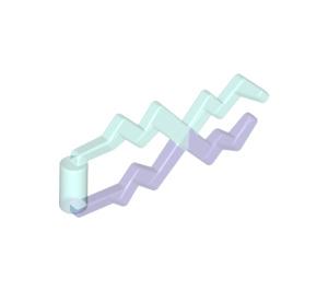 LEGO Transparent Light Blue Lightning Bolt with Marbled Transparent Purple (28555 / 59233)
