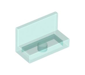 LEGO Transparent Light Blue Panel 1 x 2 x 1 without Rounded Corners (30010)