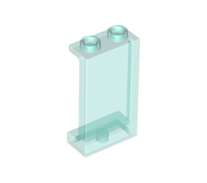LEGO Transparent Light Blue Panel 1 x 2 x 3 with Side Supports - Hollow Studs (35340 / 74968)