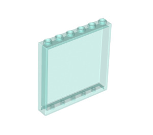 LEGO Transparent Light Blue Panel 1 x 6 x 5 (35286 / 59349)