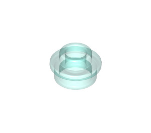 LEGO Transparent Light Blue Plate 1 x 1 Round with Open Stud (29387 / 85861)