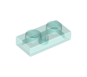 LEGO Transparent Light Blue Plate 1 x 2 (3023 / 6225 / 28653)
