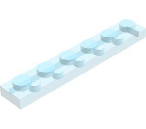 LEGO Transparent Light Blue Plate 1 x 6 (3666)