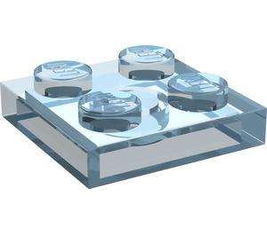 LEGO Transparent Light Blue Plate 2 x 2 (3022)