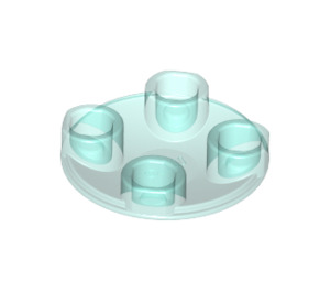 LEGO Transparent Light Blue Plate 2 x 2 Round with Rounded Bottom (28558 / 54196)