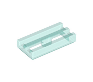 LEGO Transparent Light Blue Tile 1 x 2 Grille (with Bottom Groove) (30244)