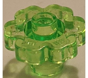 LEGO Transparent Light Green Flower 2 x 2 with Open Stud