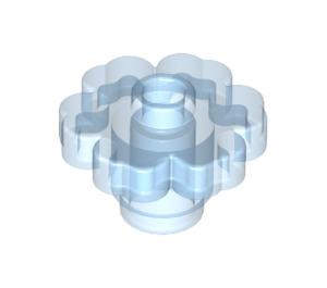 LEGO Transparent Medium Blue Flower 2 x 2 with Open Stud (30657)