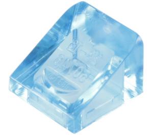 LEGO Transparent Medium Blue Slope 31° 1 x 1 (50746)