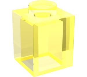 LEGO Transparent Neon Green Brick 1 x 1 (30071)