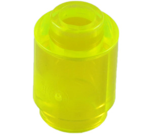 LEGO Transparent Neon Green Brick 1 x 1 Round with Open Stud (3062 / 30068)