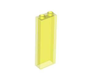 LEGO Transparent Neon Green Brick 1 x 2 x 5 without Side Supports (46212)
