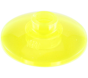 LEGO Transparent Neon Green Dish 2 x 2 Inverted (4740 / 30063)