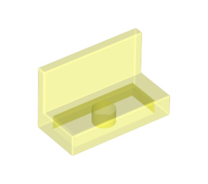 LEGO Transparent Neon Green Panel 1 x 2 x 1 without Rounded Corners (30010)
