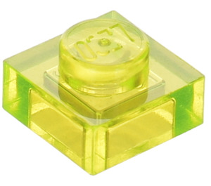 LEGO Transparent Neon Green Plate 1 x 1 (30008)