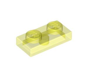 LEGO Transparent Neon Green Plate 1 x 2 (3023 / 28653)