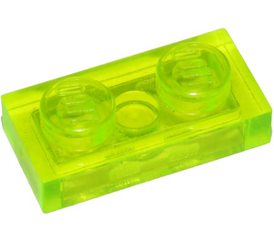 LEGO Transparent Neon Green Plate 1 x 2 (3023 / 28653)
