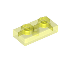 LEGO Transparent Neon Green Plate 1 x 2 (3023 / 6225 / 28653)