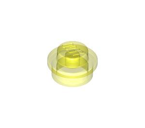 LEGO Transparent Neon Green Round Plate 1 x 1 (6141 / 30057 / 34823)