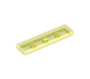 LEGO Transparent Neon Green Tile 1 x 4 (35371 / 91143)
