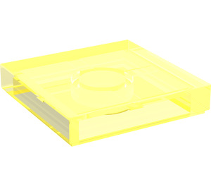 LEGO Transparent Neon Green Tile 2 x 2 with Groove (3068)