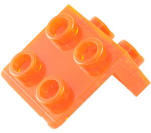 LEGO Transparent Neon Reddish Orange Bracket 1 x 2 - 2 x 2 (86644)
