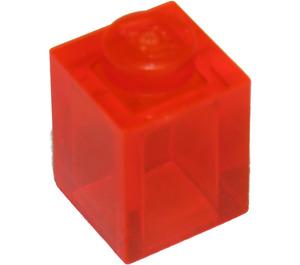 LEGO Transparent Neon Reddish Orange Brick 1 x 1 (30071)