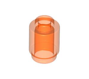 LEGO Transparent Neon Reddish Orange Brick Round 1 x 1 with Open Stud (3062 / 30068 / 35390)