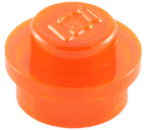 LEGO Transparent Neon Reddish Orange Plate 1 x 1 Round (30057 / 34823)
