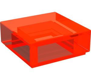 LEGO Transparent Neon Reddish Orange Tile 1 x 1 with Groove (30039)