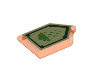 LEGO Transparent Neon Reddish Orange Tile 2 x 3 Pentagonal with Ice Rain Power Shield (24275)