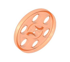 LEGO Transparent Neon Reddish Orange Wedge Belt Wheel (2786 / 4185)