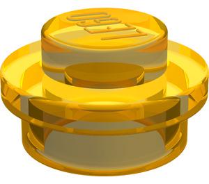 LEGO Transparent Neon Yellow Plate 1 x 1 Round (30057)