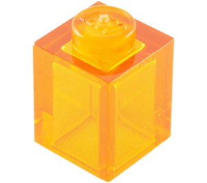 LEGO Transparent Orange Brick 1 x 1 (30071 / 35382)