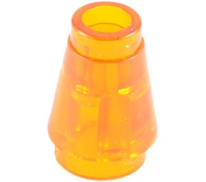 LEGO Transparent Orange Cone 1 x 1 with Top Groove (28701 / 64288)