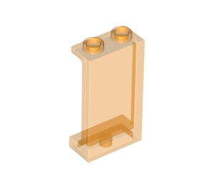 LEGO Transparent Orange Panel 1 x 2 x 3 with Side Supports - Hollow Studs (74968)