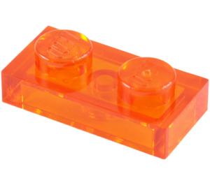 LEGO Transparent Orange Plate 1 x 2 (6225 / 28653)