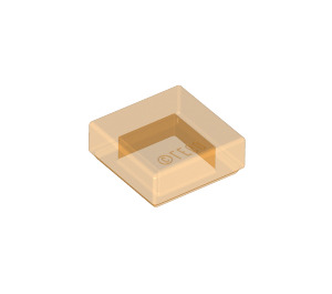 LEGO Transparent Orange Tile 1 x 1 with Groove (30039 / 35403)