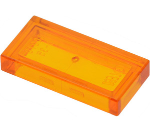 LEGO Transparent Orange Tile 1 x 2 with Groove (30070 / 35386)