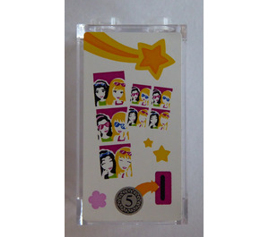 LEGO Transparent Panel 1 x 2 x 3 with Photo Booth Sticker with Side Supports - Hollow Studs
