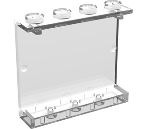 LEGO Transparent Panel 1 x 4 x 3 without Side Supports, Solid Studs (4215)
