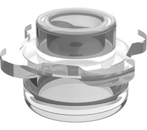 LEGO Transparent Plate 1 x 1 Round with Tabs (33291)