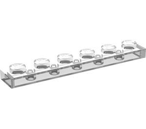 LEGO Transparent Plate 1 x 6 (3666)