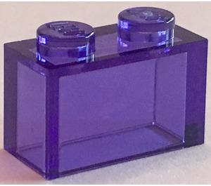 LEGO Transparent Purple Brick 1 x 2