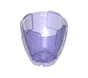 LEGO Transparent Purple Cocoon Half (11598)