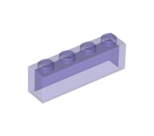 LEGO Transparent Purple Glitter Brick 1 x 4 without Bottom Tubes (3066)