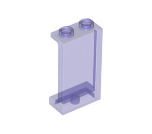 LEGO Transparent Purple Panel 1 x 2 x 3 with Side Supports - Hollow Studs (35340 / 74968)